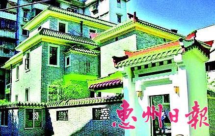 现城区上塘街东湖旅店。当时文化人士来到惠州后住在旅店二楼。