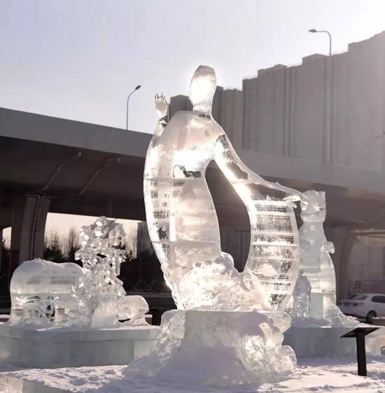 冬季的长春世界雕塑公园别有风情 门票降至10元一定要来看看