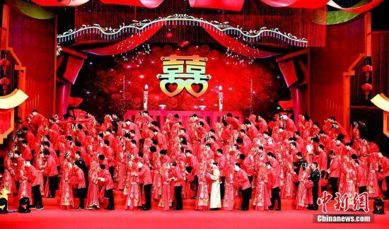 """福州举行""""新福州人""""集体婚礼"""