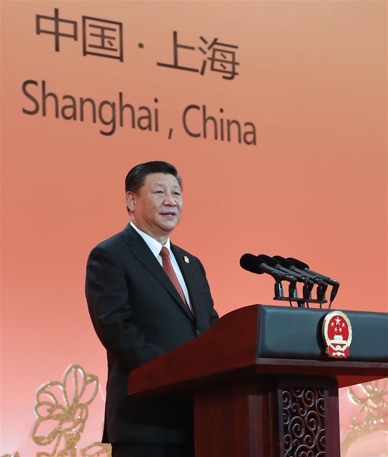 (IMPORT EXPO) CHINA-SHANGHAI-XI JINPING-CIIE-BANQUET (CN)