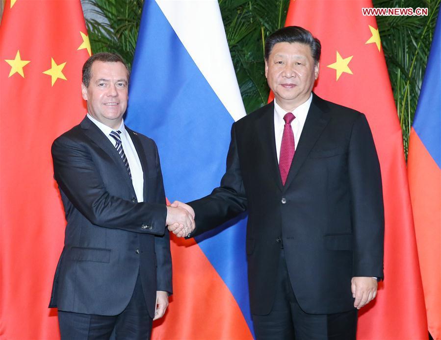 (IMPORT EXPO)CHINA-SHANGHAI-XI JINPING-RUSSIAN PM-MEETING (CN)
