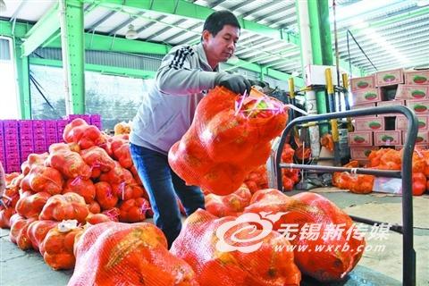 柚子丰收价格下降 无锡一果品市场日销400吨