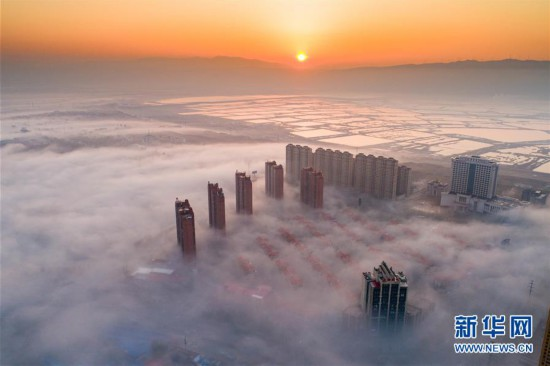 #(环境)(1)山西运城出现平流雾景观
