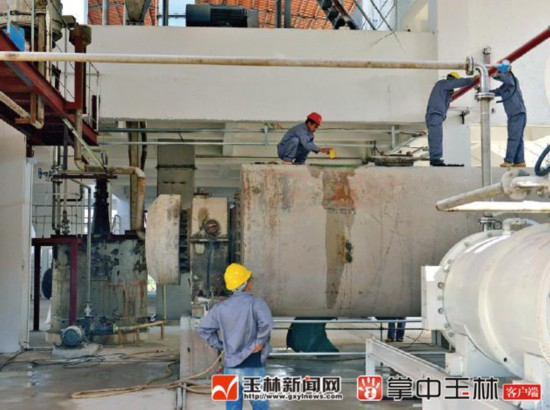 博白工业迈出坚实步伐 两项目进入试运营阶段