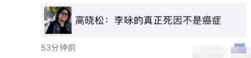 透露李咏真正的死因不是癌症?高晓松回应:当然没有!可耻!请让逝者安息