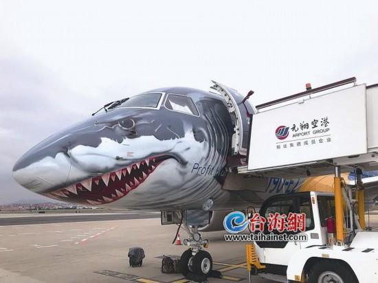 """""""大鲨鱼""""来了!巴航E190-E2亮相厦门高崎国际机场"""