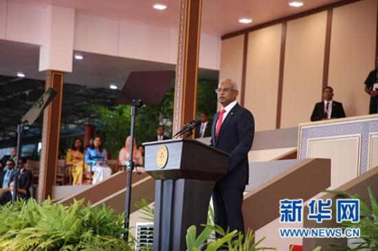 马尔代夫新任总统萨利赫宣誓就职--国际--人民网