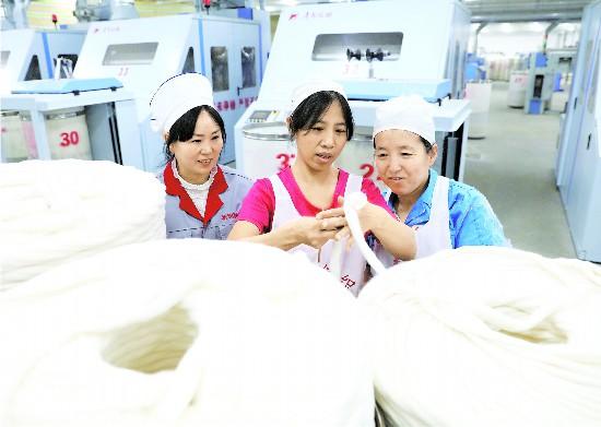 新疆乌苏纺织企业带动就业