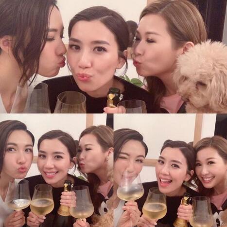 黄智雯成TVB双料视后 好姐妹为其庆祝