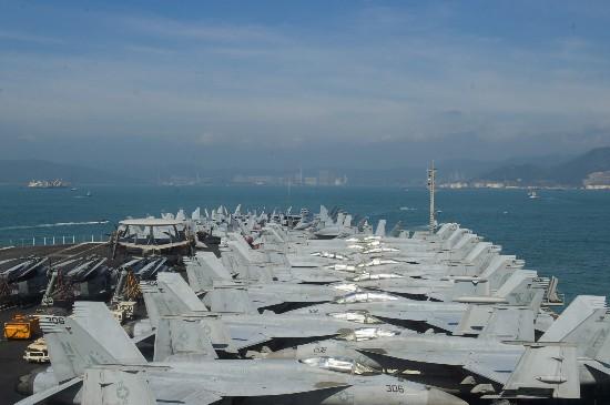 里根号航母访港是中美军事紧张缓和信号