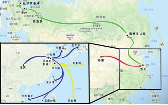 """""""苏南公铁水""""示范全国 线路远及欧美东南亚"""