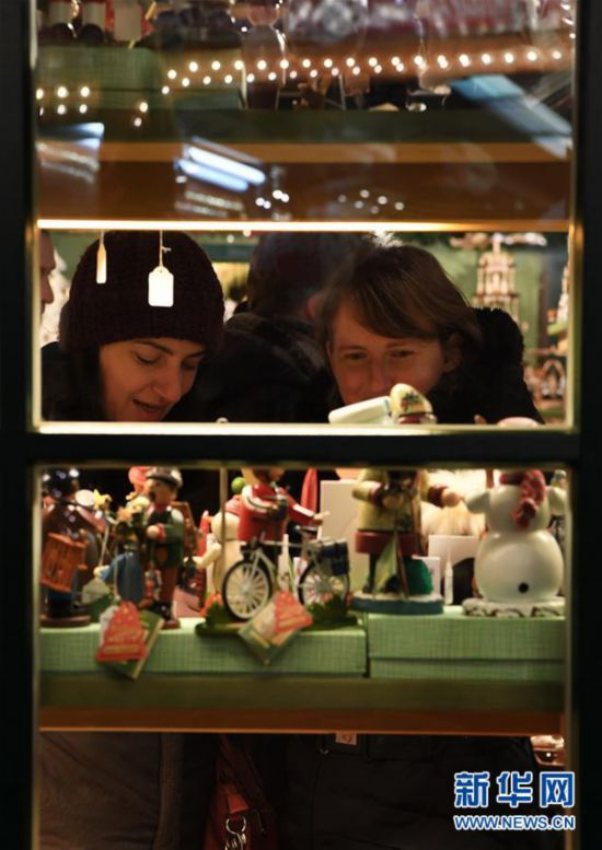 (XHDW)(2)德国法兰克福圣诞市场开张迎客