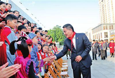中国少年先锋队贵港市第四次代表大会在市区召开