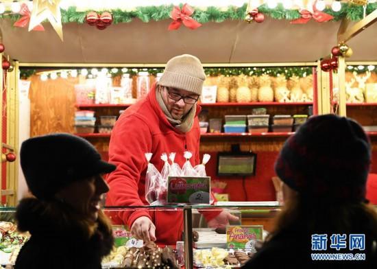(XHDW)(9)德国法兰克福圣诞市场开张迎客