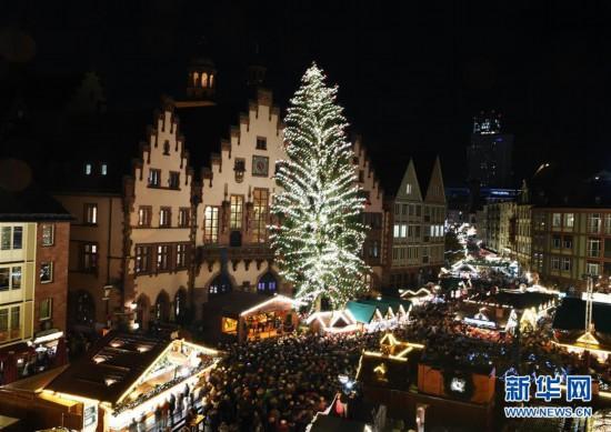 (XHDW)(11)德国法兰克福圣诞市场开张迎客