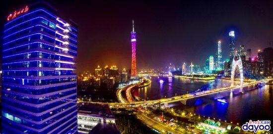 廣州國際燈光節開幕 一江兩岸夜景璀璨奪目