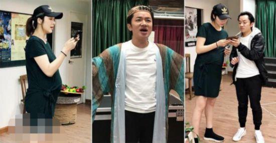 王祖蓝忙搞音乐剧 李亚男化身 得力助手 挺孕肚探班