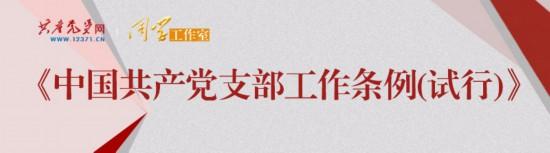《中国共产党支部工作条例(试行)》学习问答