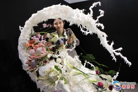 2018广州国际花卉艺术展开幕:姹紫嫣红 花城绽放