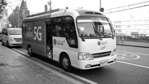 采用华为技术的运营商LG U+在首尔测试5G。