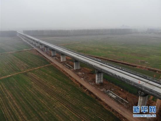(经济)(1)鲁南高铁临沂段无砟轨道铺设完成