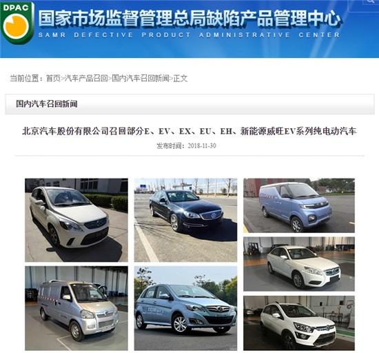 七品牌同日发布公告 共计召回汽车13.88万辆