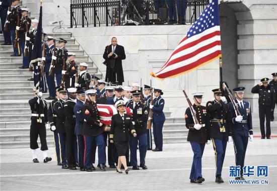 (国际)(1)美国为前总统老布什举行国葬