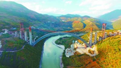 目前世界上最大跨度的铁路拱桥