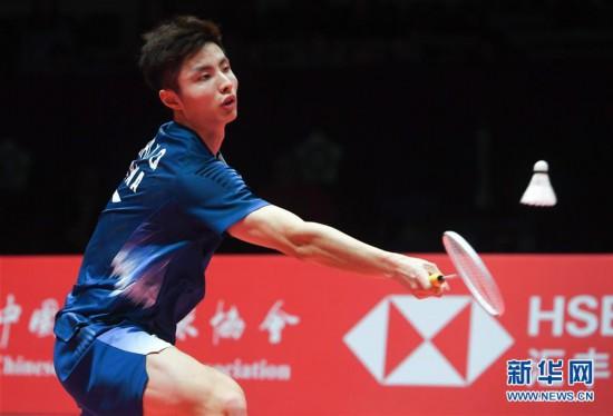 (体育)(1)羽毛球——世界巡回赛总决赛幼组赛:石宇奇胜周天成