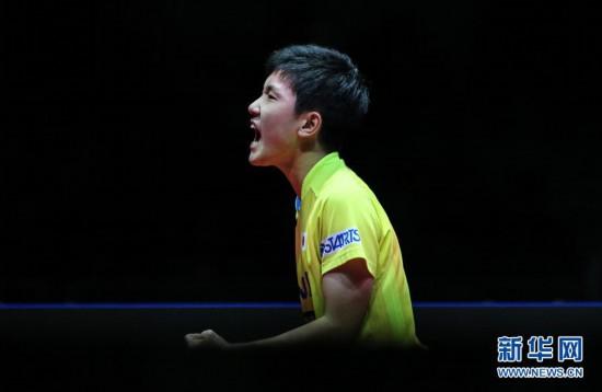 (体育)(4)乒乓球――国际乒联总决赛:张本智和男单夺冠