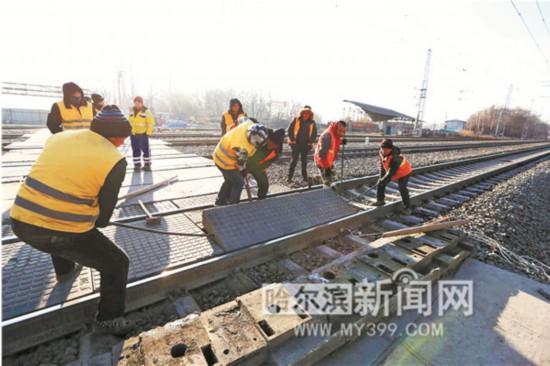 哈尔滨孙家站铁道口拆除将进行立交化改造