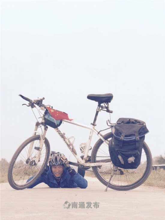 历时92天骑行7600公里 南通一小伙骑车纵穿中国