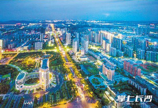 湘潭城区夜景