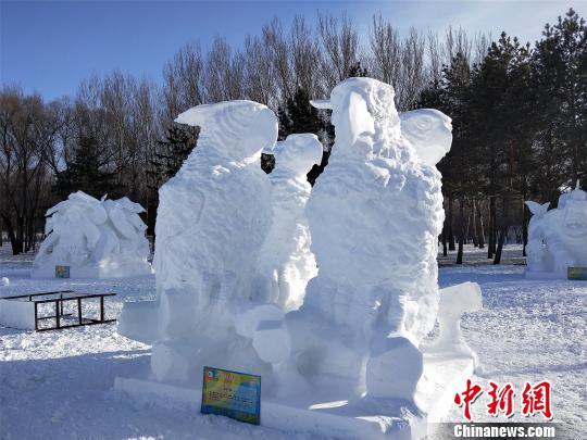 全国雪雕比赛获奖作品 太阳岛雪博会供图 摄