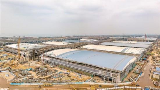 深圳国际会展中心建设稳步推进 明年6月全面完工