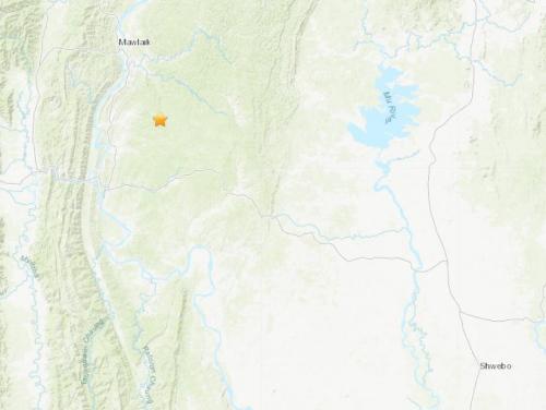 缅甸西北部地区发生5.0级地震震源深度91.8公里