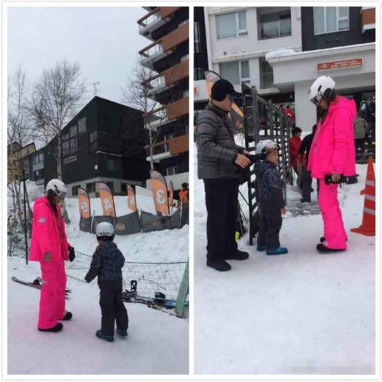 网友偶遇应采儿带Jasper滑雪 疑似破除怀二胎传闻