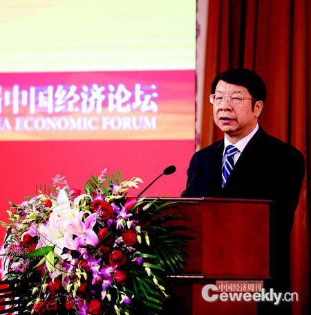 财政部副部长史耀斌在中国经济论坛开幕式上发外主旨演讲