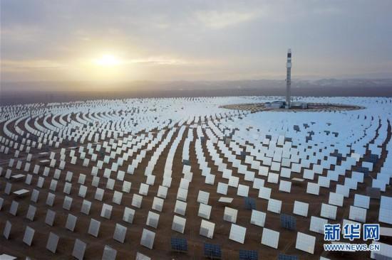 (图文互动)(1)百兆瓦级熔盐塔式光热电站在敦煌建成
