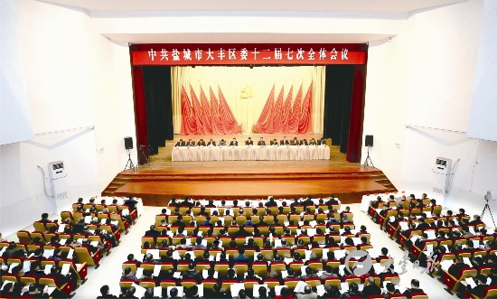 盐城市大丰区委十二届七次全会举行 薛盛堂讲话