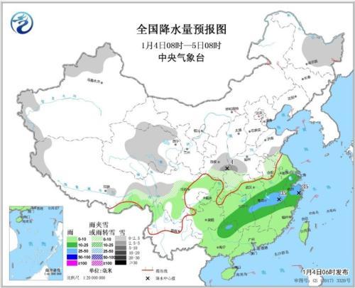 华北黄淮等地霾减弱南方雨雪增多难放晴