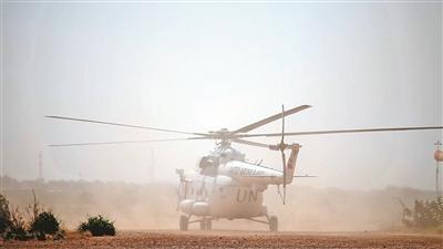 我维和直升机分队完成新年度首次任务飞行