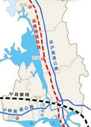 连淮扬镇铁路淮扬联络线左线贯通 可供宁启线乘客换乘连镇线