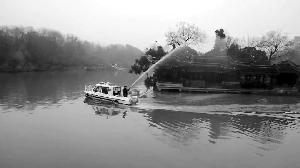 移动微型消防站亮相扬州瘦西湖 两分钟可达沿湖景点