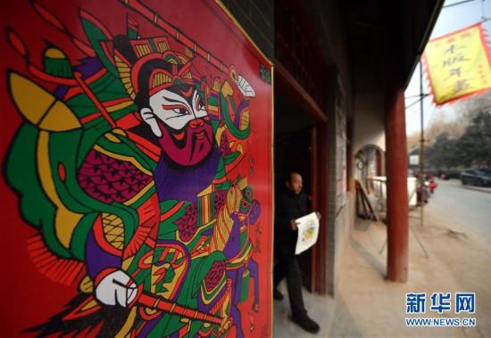 """(文化)(1)河南開封:木版上""""印""""出年味"""