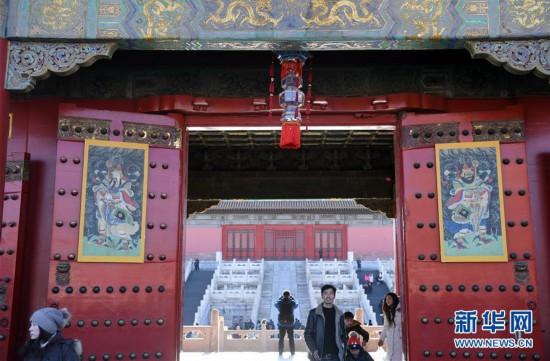 """(文化)(7)故宫博物院""""贺岁迎祥――紫禁城里过大年""""展览正式向公众开放"""
