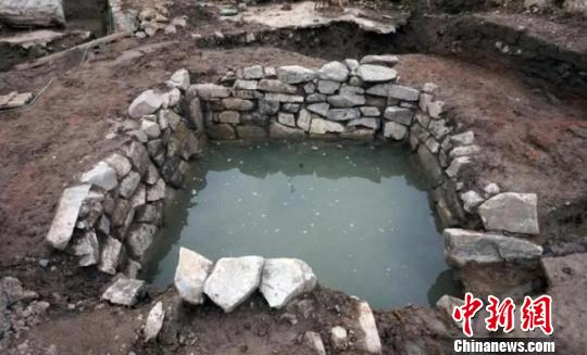 石砌水池。玉环市委宣传部提供