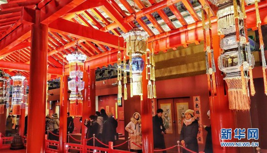 """(文化)(3)故宫博物院""""贺岁迎祥――紫禁城里过大年""""展览正式向公众开放"""