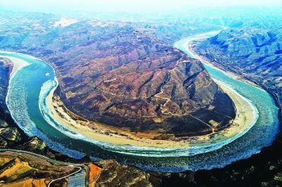 山西省临汾市境内的黄河大面积流凌