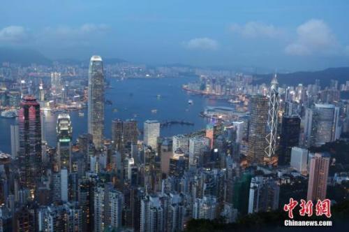 资料图:香港中环。<a target='_blank'  data-cke-saved-href='http://www.chinanews.com/' href='http://www.chinanews.com/'><p  align=